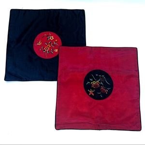 Chinese Silk Embroidered Decorative Pillow Covers